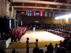 The competition hall in Butgenbach